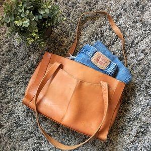 Vintage Leather Tote Bag